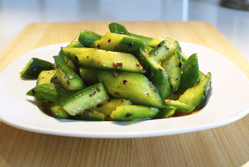 Cold Sichuan Cucumber Salad